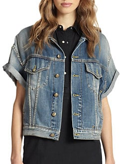 R13 - Rolled-Sleeve Denim Jacket