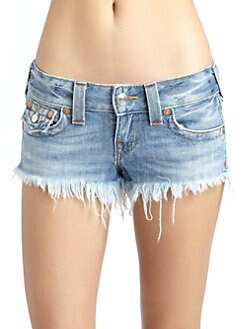 True Religion - Joey Cut-Off Denim Shorts