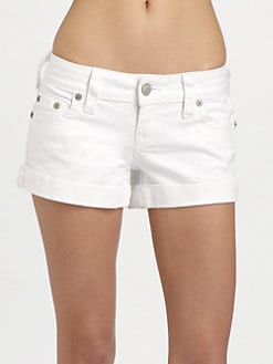 True Religion - Allie Rolled Stretch Denim Shorts
