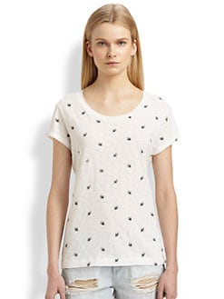 rag & bone/JEAN - The Basic Brando Bird-Print Tee
