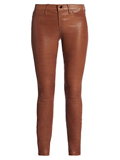 J Brand - Mid-Rise Leather Leggings