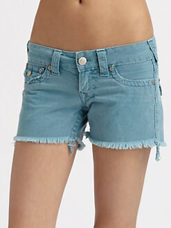 True Religion - Keira Frayed Denim Shorts