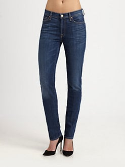 7 For All Mankind - The Roxanne Mid-Rise Jeans