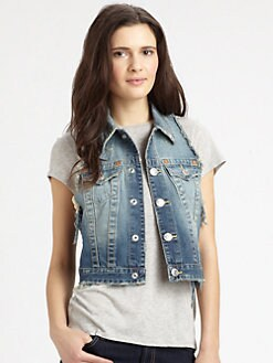 True Religion - Leah Racerback Denim Vest