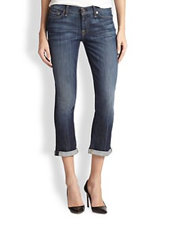 7 For All Mankind - Skinny Crop & Roll Jeans