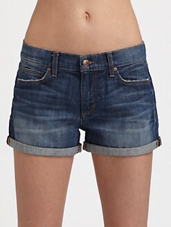 Joe's - Cuffed Mid-Rise Denim Shorts