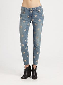 Current/Elliott - The Stiletto Star-Print Jeans