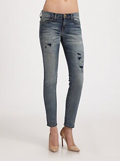 Current/Elliott - The Ankle Skinny Jeans/Pixie Repair