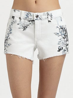 Genetic Denim - Ivy Printed Mid-Rise Denim Shorts