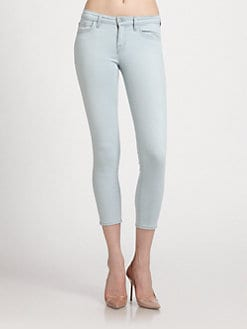 J Brand - Mid-Rise Cropped Skinny Jeans