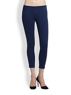 J Brand - Side-Zip Mid-Rise Skinny Capri Jeans