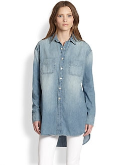 J Brand - Marlow Denim Hi-Lo Shirt