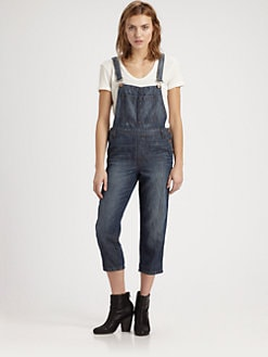 J Brand - Cropped Denim Overalls