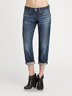 AG Adriano Goldschmied - The Piper Cropped Boyfriend Jeans