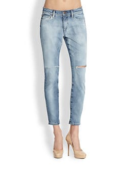 Joe's - Mila Distressed Straight Ankle Jeans