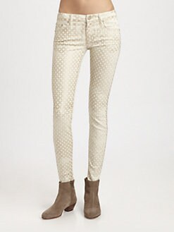 MOTHER - The Looker Skinny Jeans/Creme de Love