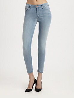 MOTHER - The Looker High-Waist Cropped Jeans