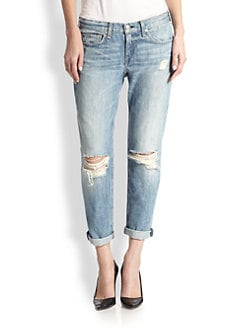 rag & bone/JEAN - The Boyfriend Distressed Jeans