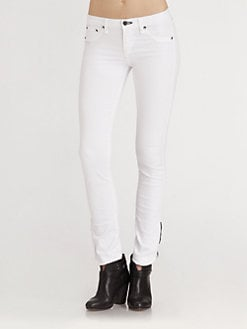 rag & bone/JEAN - Macarthur Ankle-Zip Skinny Jeans