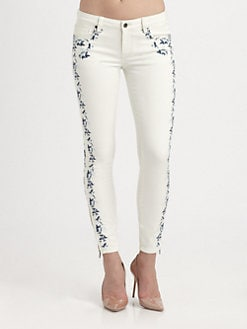 Genetic Denim - The Shya Embroidered Skinny Jeans