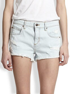 Joe's - Distressed Cut-Off Denim Shorts