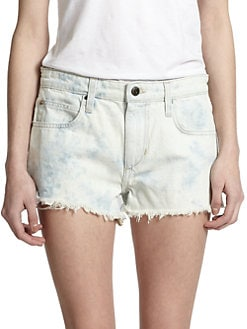 Joe's - Acid-Washed Cut-Off Denim Shorts