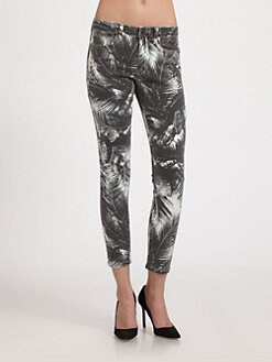 Joe's - Majestic Palm Printed Cropped Mid-Rise Skinny Jeans