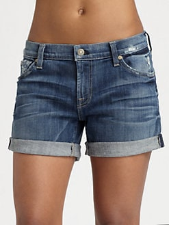 7 For All Mankind - Relaxed Roll-Up Shorts