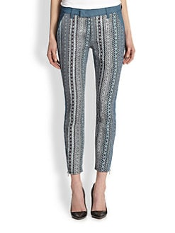 7 For All Mankind - Mahlia Kent Pieced Skinny Jeans