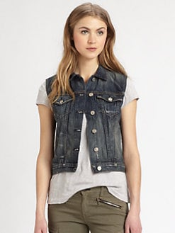 rag & bone/JEAN - Burney Distressed Denim Vest