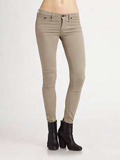 rag & bone/JEAN - The Legging Skinny Jeans/Khaki