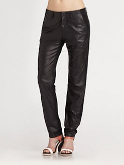 rag & bone/JEAN - Hyde Portobello Stretch-Leather Pants