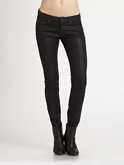 rag & bone/JEAN - The Skinny Jeans/Coated Black