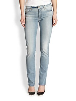 7 For All Mankind - Slim Illusion Straight-Leg Jeans