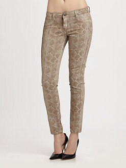Bleulab - Detour Reversible Snake-Print Leggings