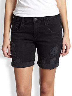 True Religion - Miles Distressed Bermuda Shorts