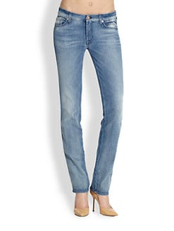 7 For All Mankind - Kimmie Straight-Leg Jeans/Bright Light Blue