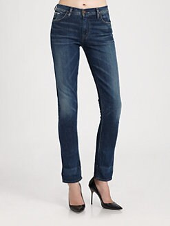 Goldsign - High-Rise Slim-Leg Jeans