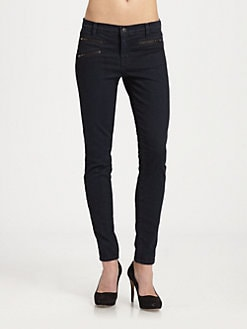 J Brand - Zoey Triple-Zip Skinny Jeans