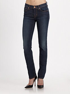 J Brand - Low-Rise Faded Skinny Leg Jeans