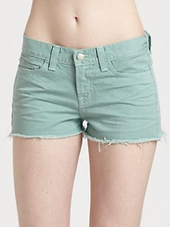 J Brand - Low-Rise Denim Cutoff Shorts