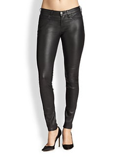 Current/Elliott - Skinny Leather Ankle Pants
