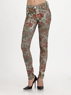 Goldsign - Tayler Floral-Print Jeans