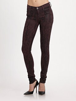 Goldsign - Lace-Print Skinny Pants