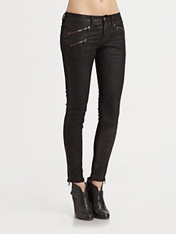 rag & bone/JEAN - Stretch-Leather Jeans