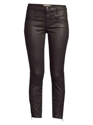 The Soho Zip Stiletto Coated Skinny Jeans