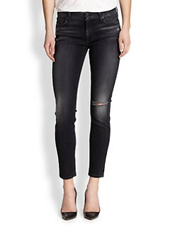 7 For All Mankind - Distressed Skinny Ankle Jeans