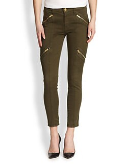 7 For All Mankind - Skinny Ankle Moto Jeans