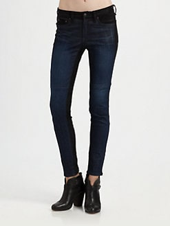 rag & bone/JEAN - The Jekyll Leather-Trim Jeans