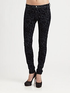 J Brand - Brocade-Print Skinny Jeans